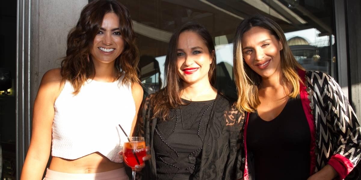 Fotos: Reina del Festival de Viña encabezó cumbre de famosas en barrio Lastarria