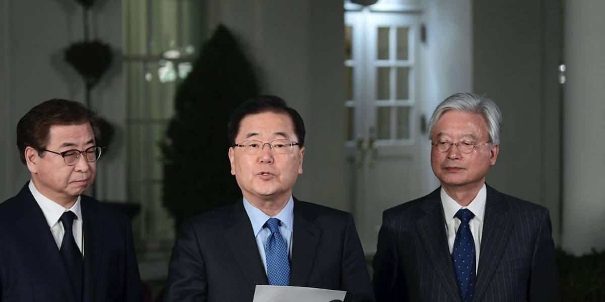 """Trump dice que se reunirá con Kim Jong Un """"para mayo"""""""