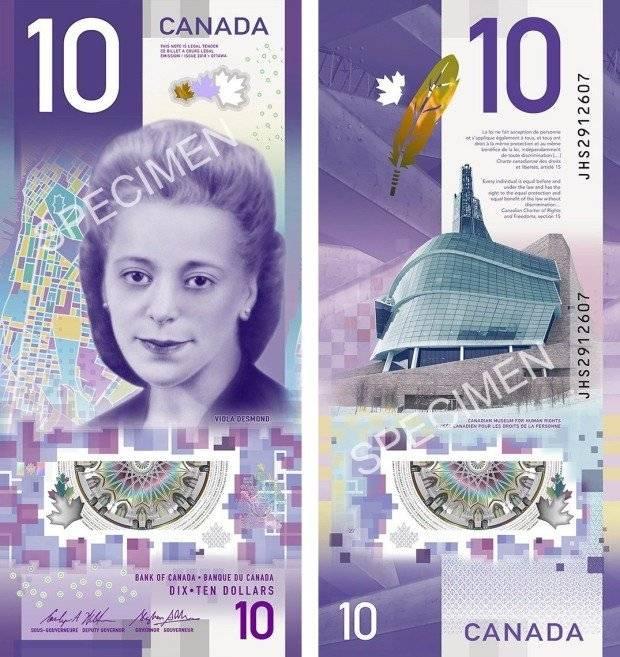 Viola Desmond cédula Canadá