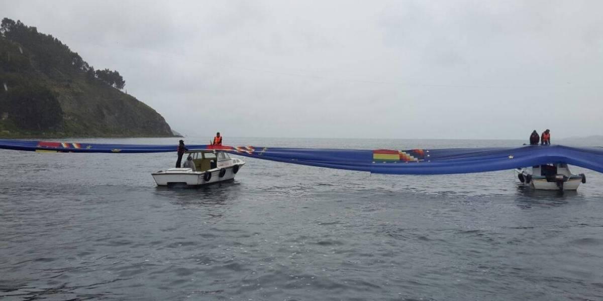 """""""Una movilización imparable"""": la emoción de Morales tras desplegar bandera de 200 kilómetros en apoyo a demanda marítima"""
