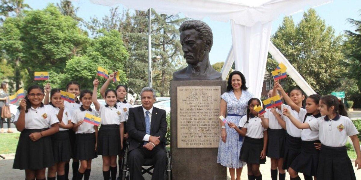 Juan Montalvo tiene ahora un busto en parque Ecuador de Santiago de Chile
