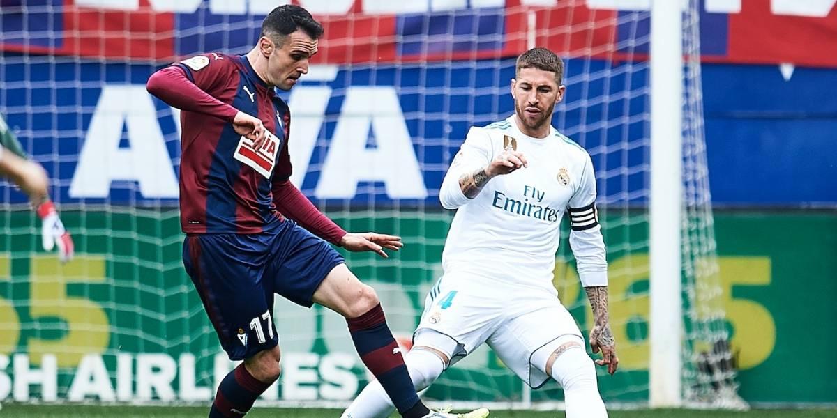 """Zidane explicó la extraña ausencia de Sergio Ramos durante 5 minutos ante el Eibar: """"Se ha cagado un poco"""""""