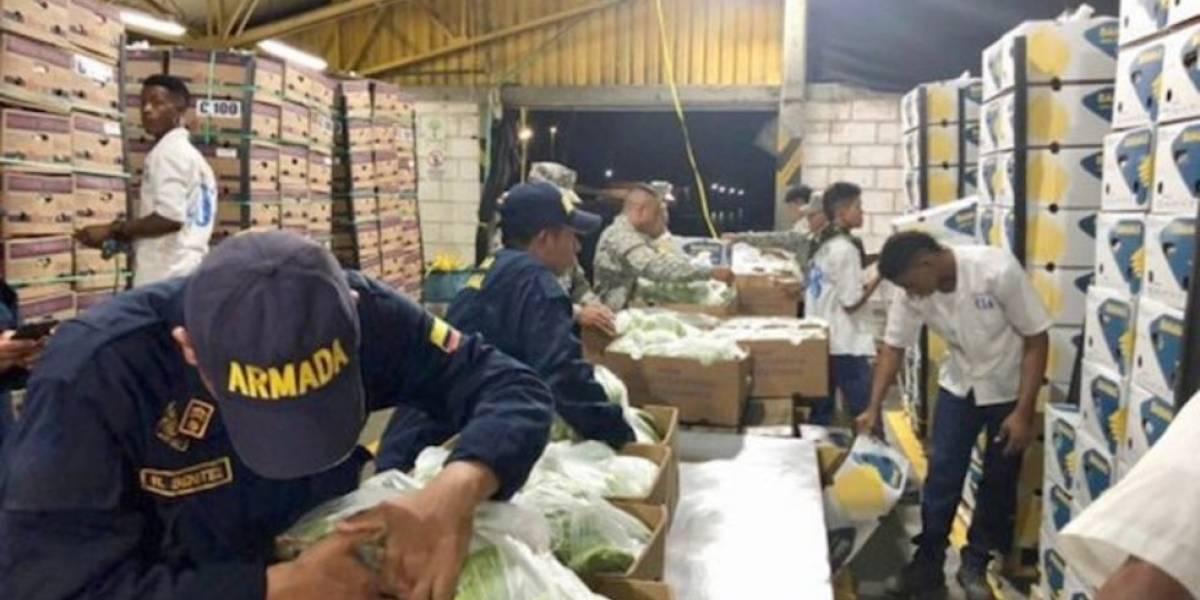 Policía colombiana decomisa 1.6 toneladas de cocaína