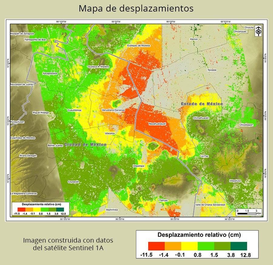 Mapa de deslizamiento en la Ciudad de México