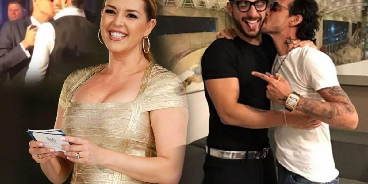 ¡Otra polémica más! Alicia Machado critica el beso de Maluma con Marc Anthony y los fans la atacan
