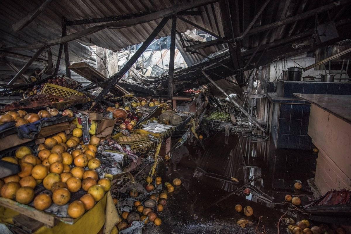 Incendio en el Mercado Hidalgo