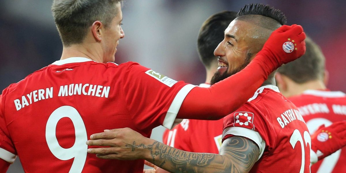 Bayern de Vidal aplastó al Hamburgo y se prueba la corona del hexacampeonato en Alemania