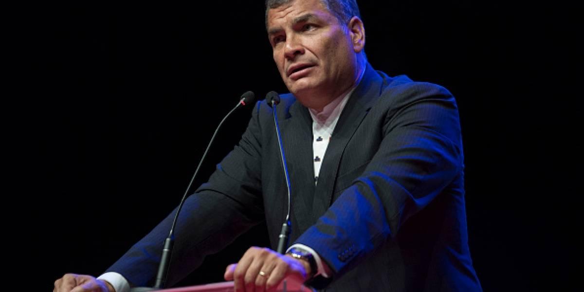 Correa: Por componendas políticas no controlan sector externo y se les va toda la liquidez
