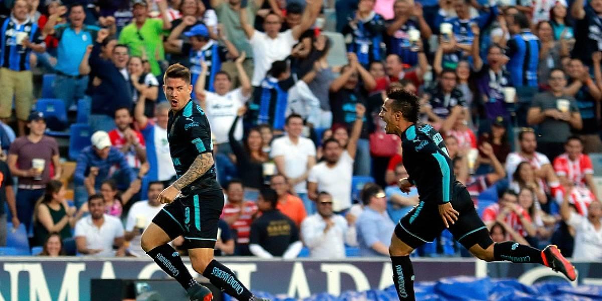 Everaldo Stum marca un gol de chilena en la liga mexicana