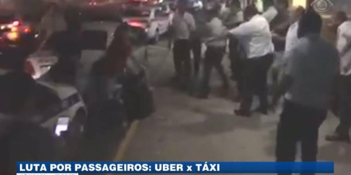 VÍDEO: Taxistas e motoristas de Uber entram em confronto no Ceará