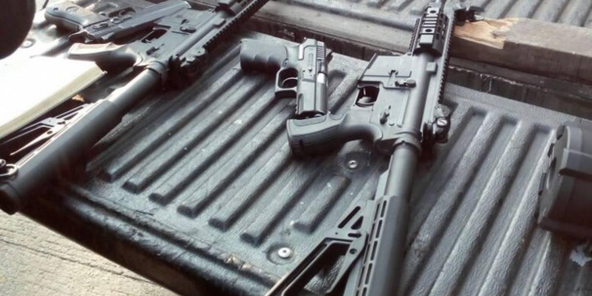 Sorprenden a cinco hombres con rifles en Escuintla