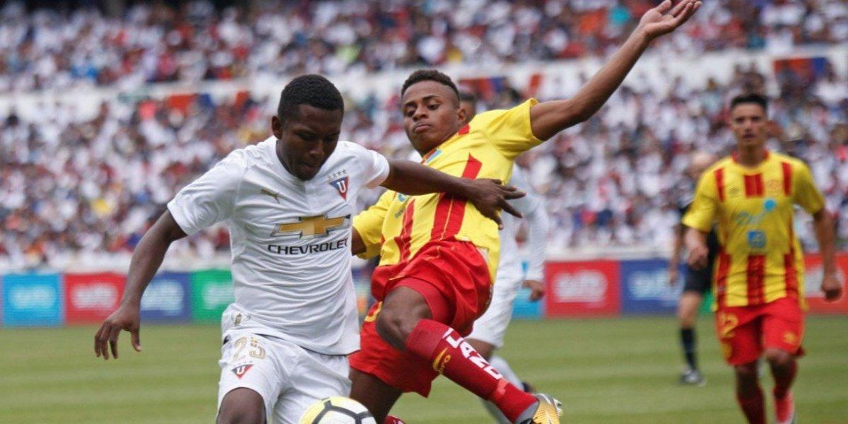 Empate agónico entre Liga de Quito y Aucas