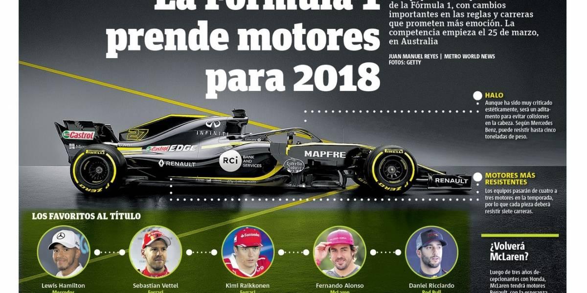 Infografía: La Fórmula 1 prende motores para 2018