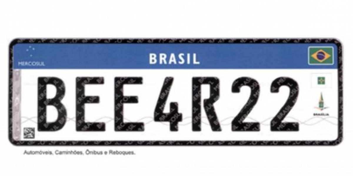 Placas com padrão Mercosul serão adotadas até dezembro