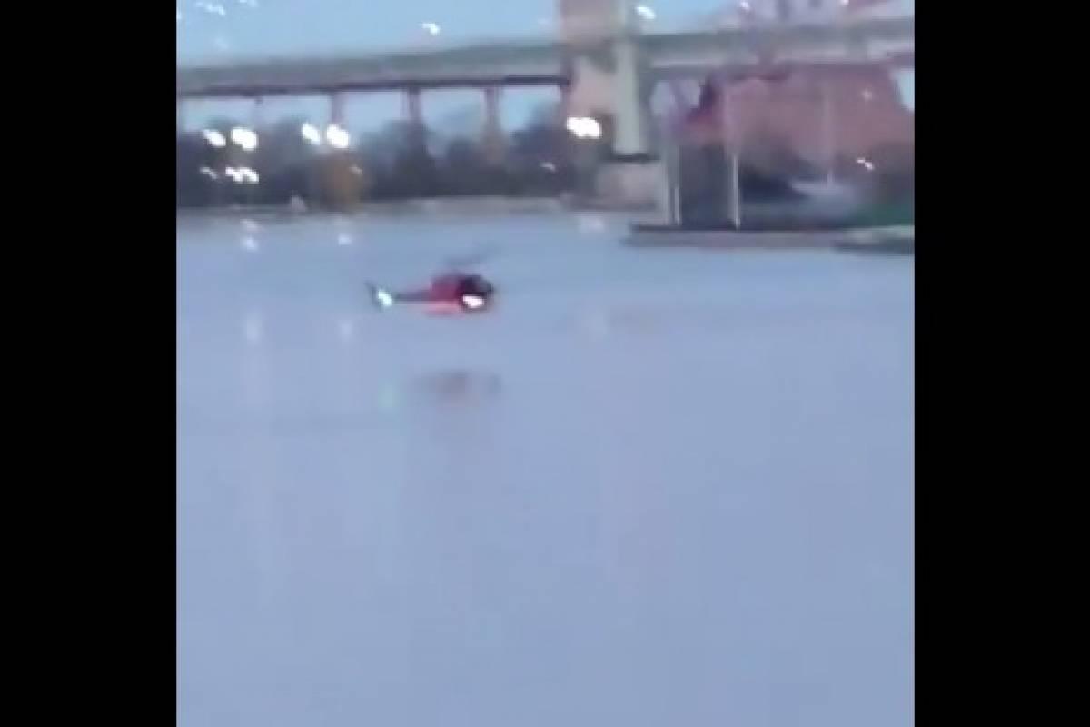 Al menos dos muertos al estrellarse un helicóptero en Nueva York (vídeo)