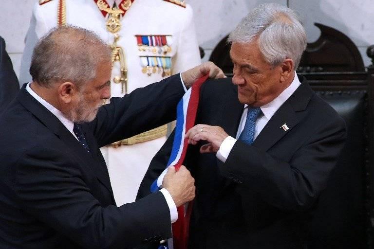 Carlos Montes y Sebastián Piñera