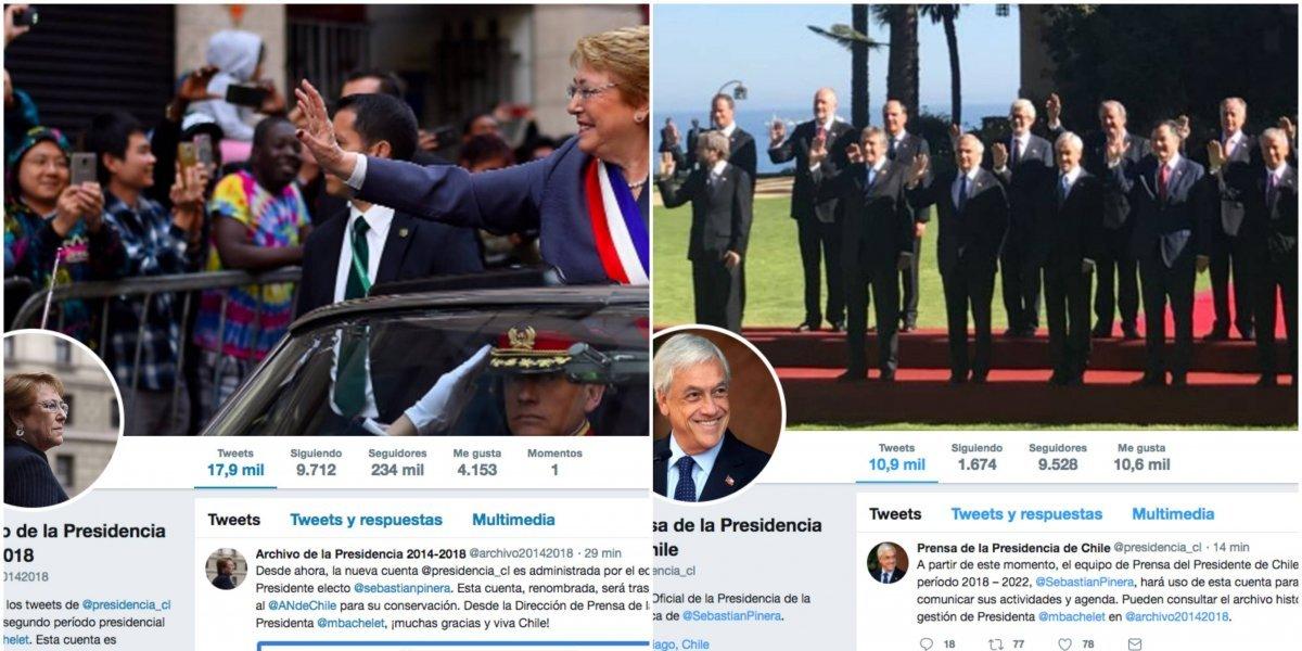 El cambio también en Twitter: la nueva cara de la cuenta de la presidencia tras el traspaso de mando