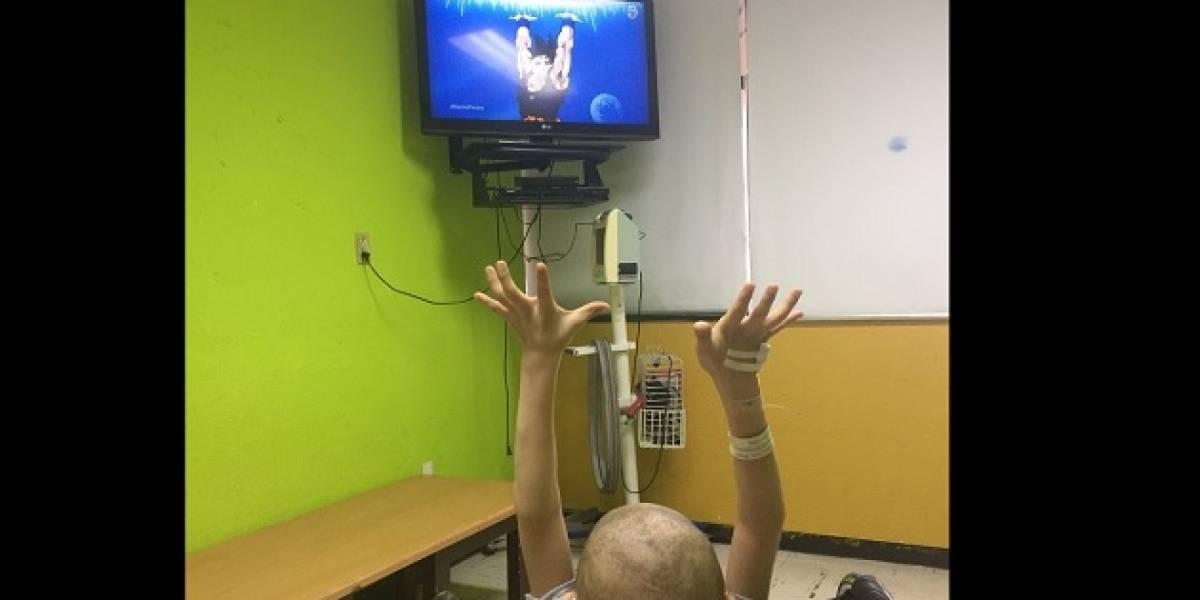 'Gokú' habló con niño que lucha contra el cáncer