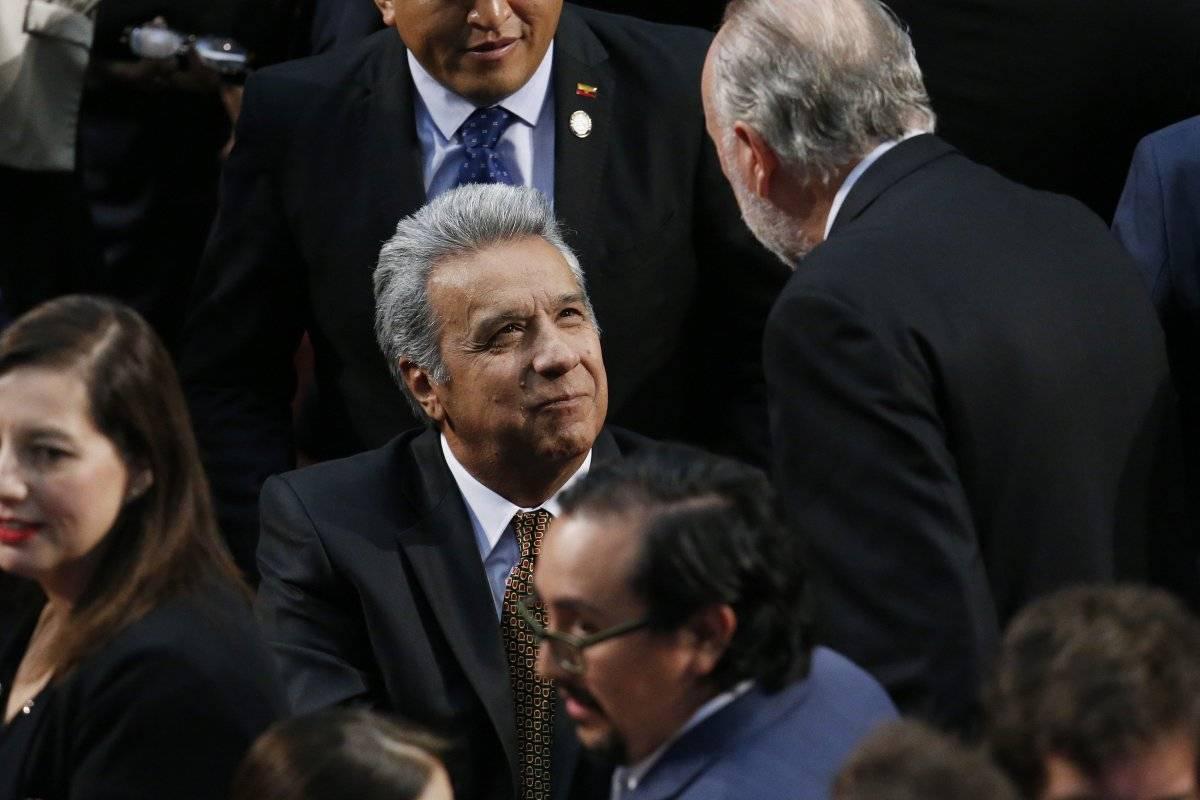 Lenín Moreno ingresó por