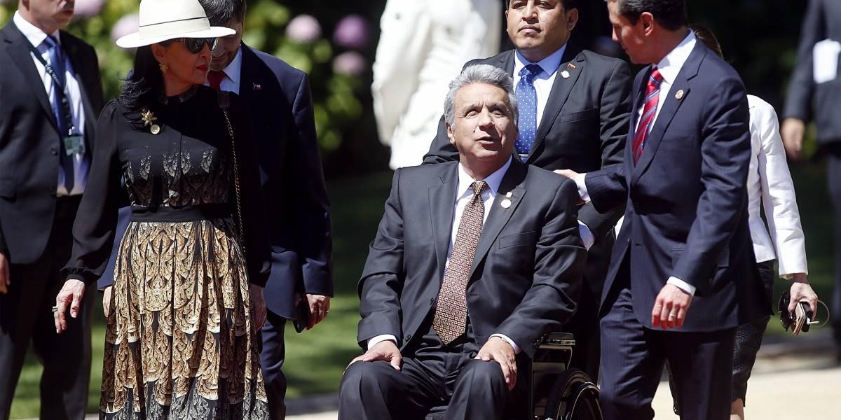 Lenín Moreno ingresó por 'puerta trasera' al congreso chileno
