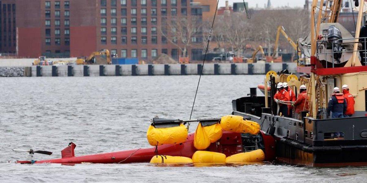 VIDEO. Cinco muertos al caer un helicóptero a río de Nueva York