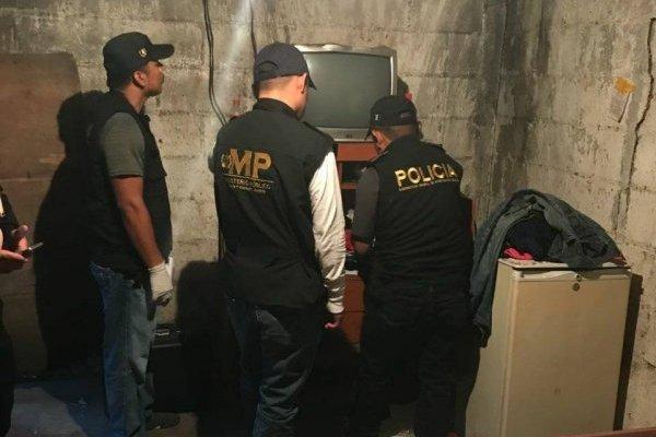 allanamientos contra la trata en Escuintla