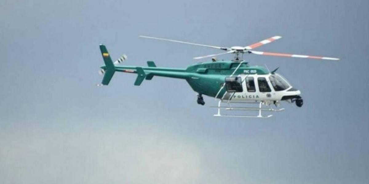 Ni con el helicóptero de la Policía lograron detener fuga de menores en Bogotá
