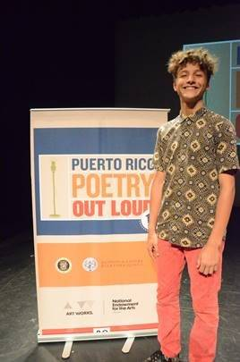 Matías Coss Hernández, campeón de la 10 ma edición de Puerto Rico Poerty Out Loud./ Suministrada