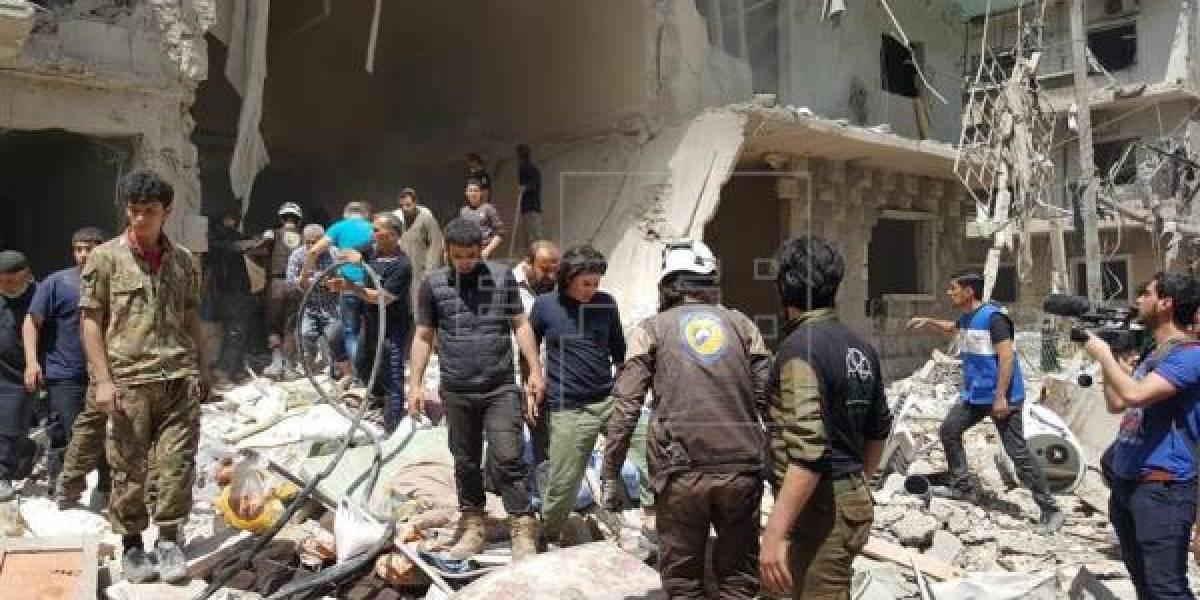 Más de 350.000 muertos en Siria durante siete años de guerra civil