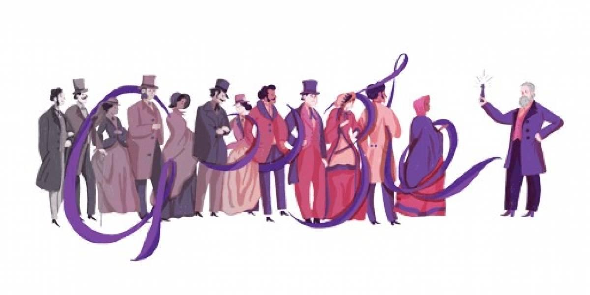 Google homenajeó al químico William Henry Perkin con un colorido doodle
