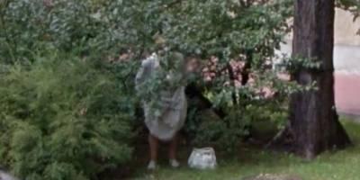 Google Maps capta a una abuelita en su peor momento
