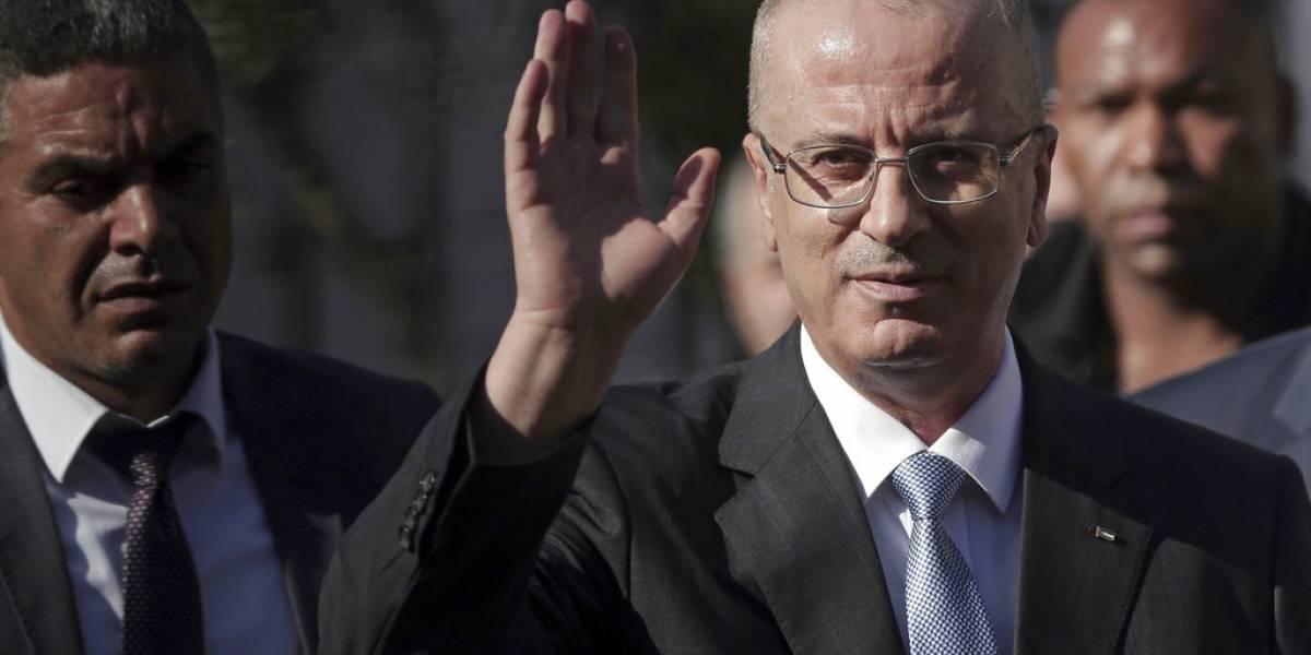 Atacaron el convoy del primer ministro palestino en Gaza