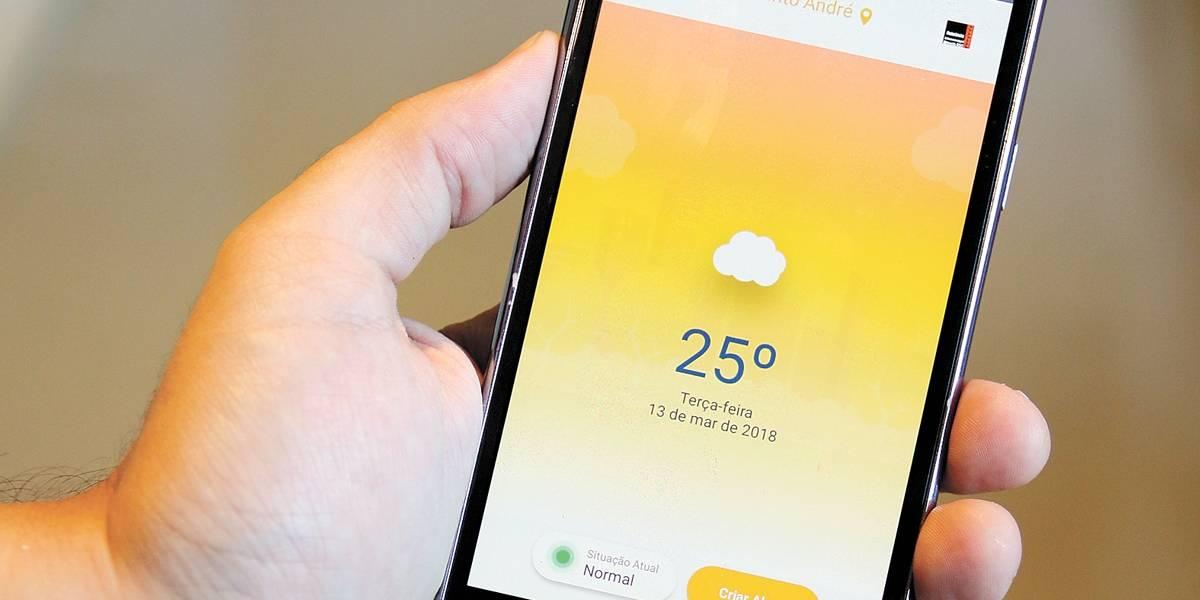 ABC ganha app que indica onde pode ter alagamento