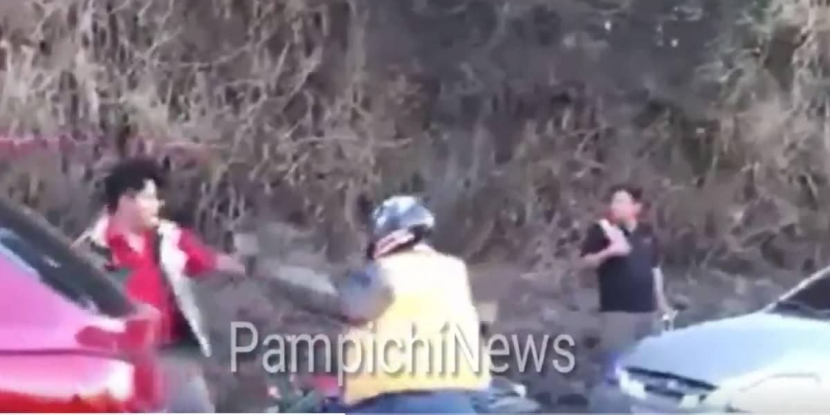 VIDEO. Colisión en la cuesta Villa Lobos termina en una pelea