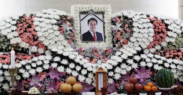 El funeral del actor Jo Min-ki