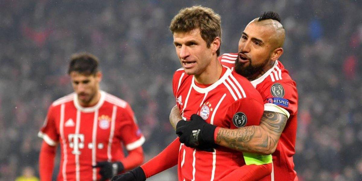 El Bayern de Vidal quiere sentenciar el trámite ante el Besiktas de Medel en la Champions