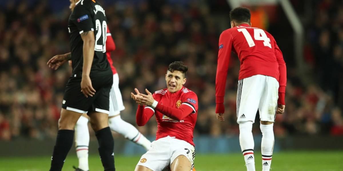 Alexis y su United decepcionaron a todos con una terrible eliminación ante Sevilla en la Champions