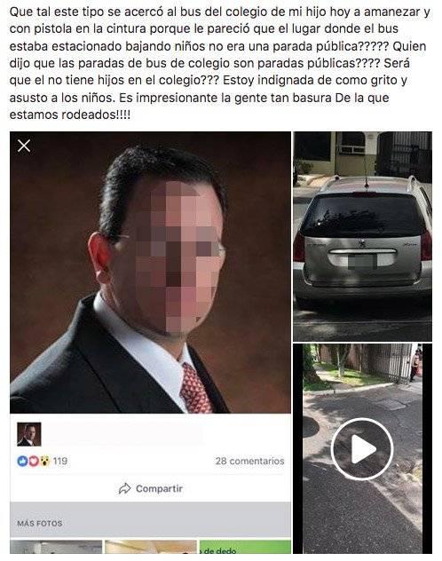 Denuncia en Facebook