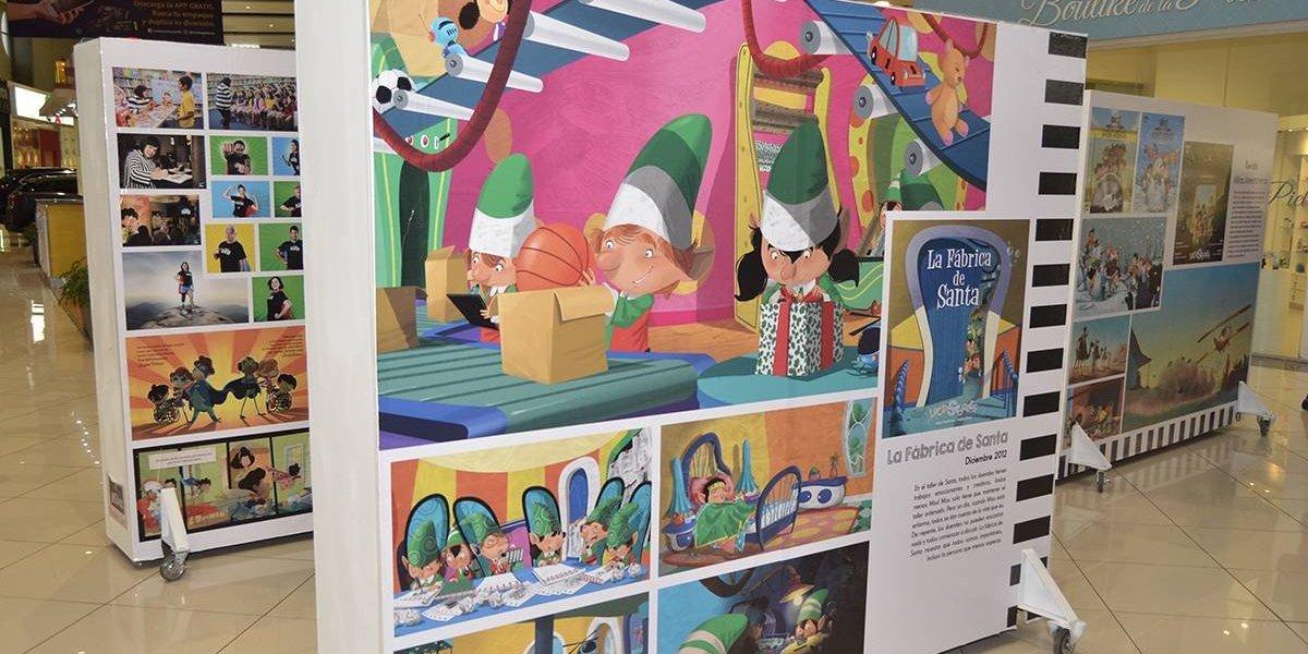 La escritora Anya Damirón promueve la lectura a través de una colorida exposición