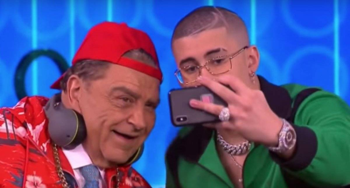 Bad Bunny y Don Francisco protagonizan duelo de rimas