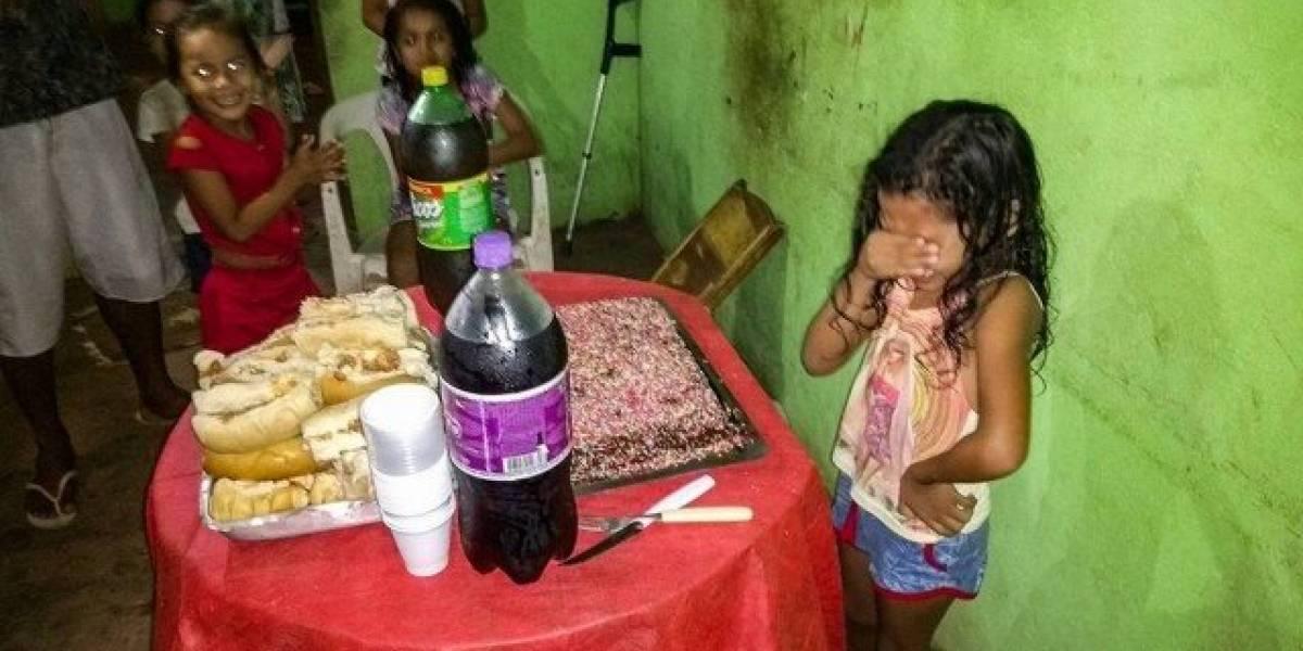 Menina que chorou ao ganhar bolo de aniversário emociona internautas