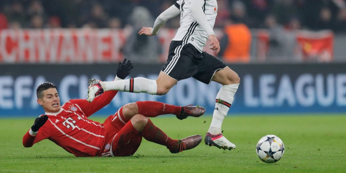 Besiktas vs. Bayern: James regresa justo ante el equipo con el que se lesionó