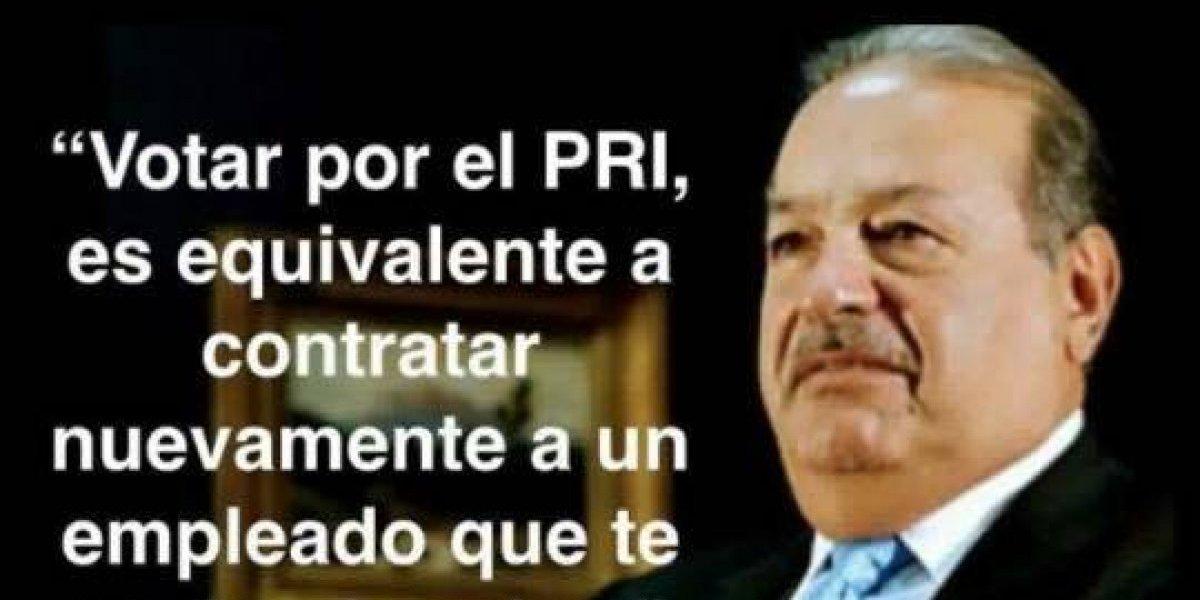 Fake News: Responden a imagen viral de Carlos Slim sobre las elecciones