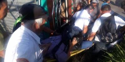 accidente de bus en Escuintla