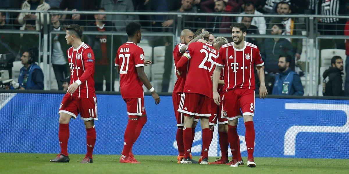 El Bayern de Vidal transpiró poquito para eliminar al Besiktas de Medel en la Champions