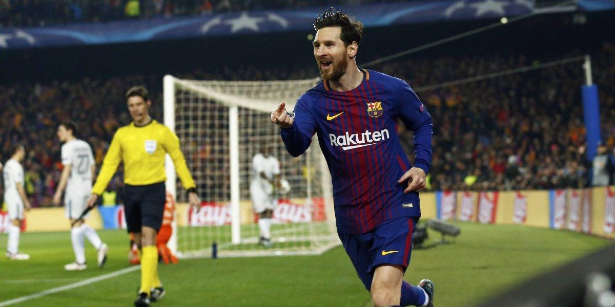 La magia de Messi guió otra vez al Barcelona a los cuartos de la Champions