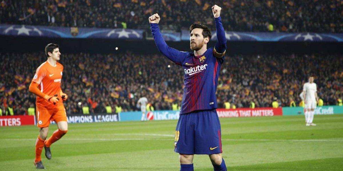 Messi guía al Barcelona a los cuartos de final de la Champions