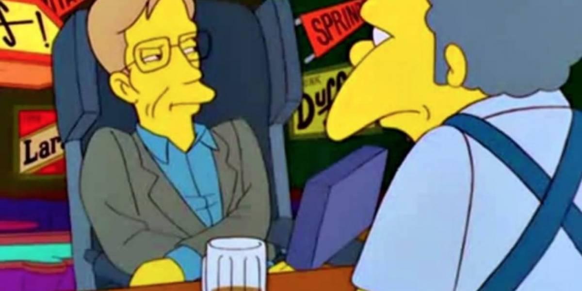 """""""Larga vida a los Simpson"""": la singular forma en que profesor debió explicar a sus alumnos quién era Stephen Hawking"""