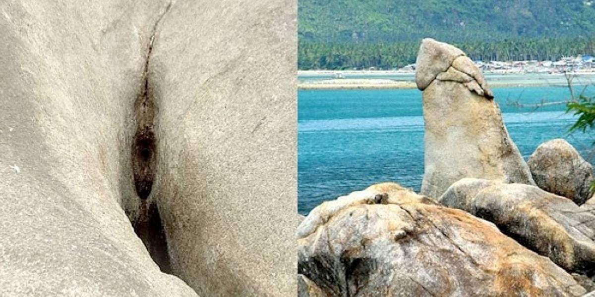 """Turista se frotó y posó sobre """"la gran roca sagrada con forma fálica"""", pero causó indignación en Tailandia"""