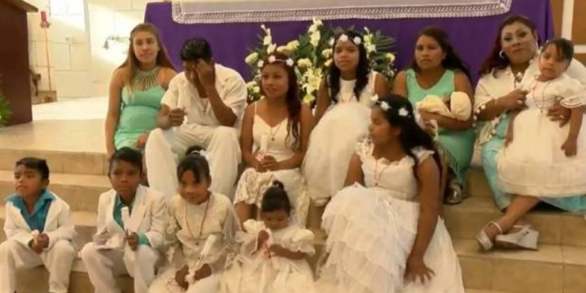 Mujer de 30 años causa revuelo por celebrar el bautizo... ¡de sus 10 hijos!